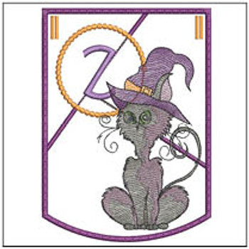 Halloween Cat ABC's Bunting - Z - Machine Embroidery
