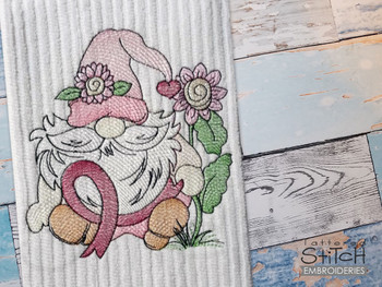"""Gnome Ribbon -  Fits a 4x4, 5x7 & 8x8""""  Hoop - Machine Embroidery Designs"""