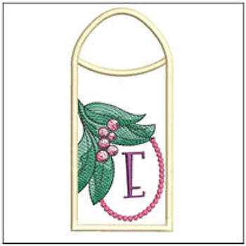 Holly Branch Gift Card ABCs Holder - E - Machine Embroidery