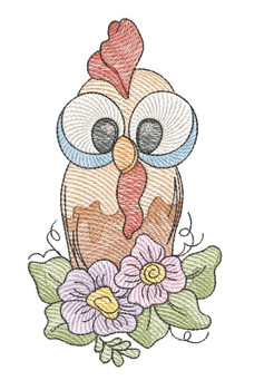 """Silly Chicken -  Fits a 4x4 &  5x7"""" Hoop - Machine Embroidery Designs"""