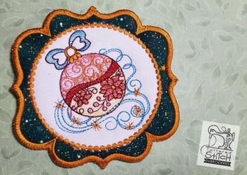 Ornament Mug Rug-Coaster - Embroidery Designs