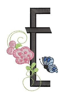 Rosebud Butterfly Font - E
