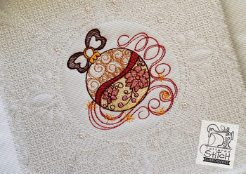 """Ornament Quilt Block- Machine Embroidery Design.  6x6 and 8x8"""" In the Hoop Quilt Block Instant Download."""