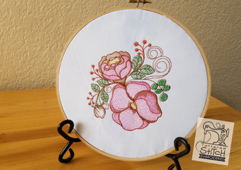 Rose Floral - Embroidery Designs
