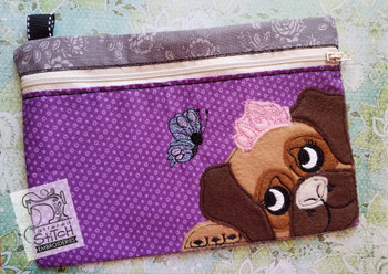 Princess Pups Zip Bag With Liner - Embroidery Designs
