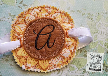 Sunflower Applique ABCs - A - Applique - Embroidery Designs