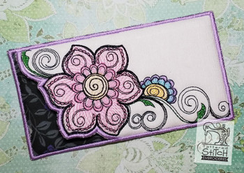 """Floral Mehndi Glasses Case -Machine Embroidery Design. 5 x 7"""" Hoop. Instant Download."""