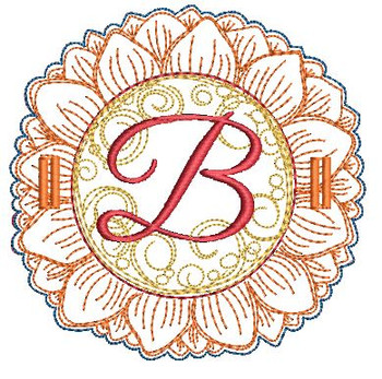 Sunflower Applique ABCs - B - Applique - Embroidery Designs