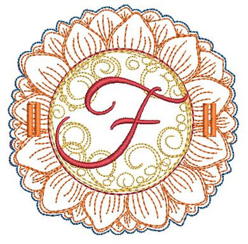 Sunflower Applique ABCs - F - Applique - Embroidery Designs