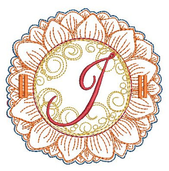 Sunflower Applique ABCs - J - Applique - Embroidery Designs