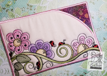"Ladybugs Sunglasses Case -Machine Embroidery Design. 5 x 7"" Hoop. Instant Download."