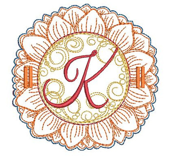 Sunflower Applique ABCs - K - Applique - Embroidery Designs