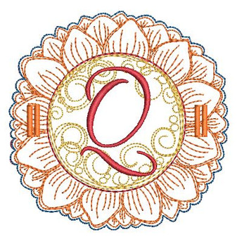 Sunflower Applique ABCs - Q - Applique - Embroidery Designs