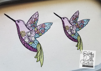 Stained Glass Hummingbird - Embroidery Designs