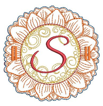 Sunflower Applique ABCs - S - Applique - Embroidery Designs