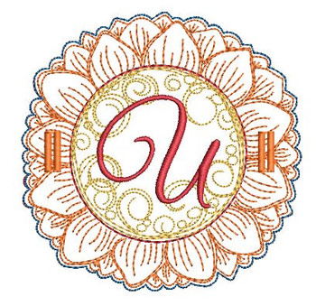 Sunflower Applique ABCs - U - Applique - Embroidery Designs