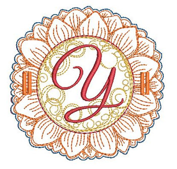 Sunflower Applique ABCs - Y - Applique - Embroidery Designs