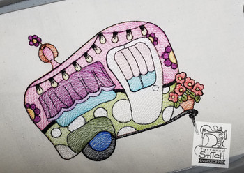 Canned Ham Camper - Embroidery Designs