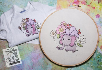 "BabyEllie- Machine Embroidery Design. 4x4 & 5x7"" hoop. Instant Download."