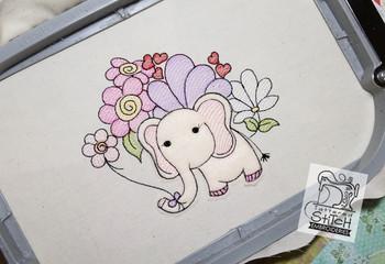 "Baby Ellie Applique - Machine Embroidery Design. 4x4 & 5x7"" hoop. Instant Download."