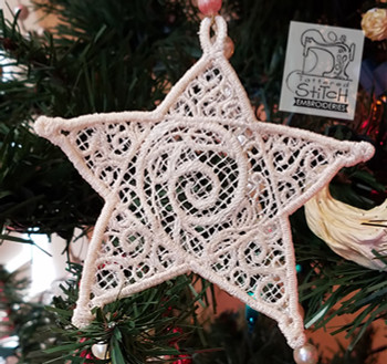 Star, Free Standing Lace, 4x4 and 5x7 Hoop, Machine Embroidery Pattern, Christmas Holiday Lace Star, Gift Giving