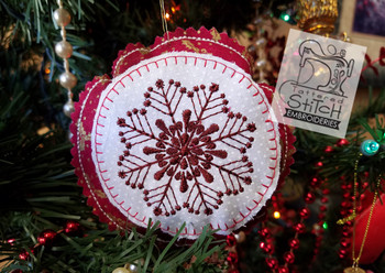 Rustic Snowflake Ornament - Machine Embroidery Design. 4x4 In The Hoop Instant Download. In the hoop. Snowflake Ornament Holiday Gift Giving