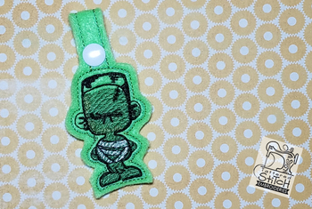 Franken Mummy Key Chain - Machine Embroidery Design. 4x4 In The Hoop Instant Download