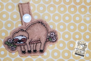 Sloth Key Chain - Embroidery Designs