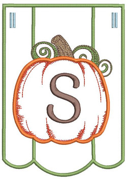 Pumpkin Bunting Alphabet Font - S - Embroidery Designs