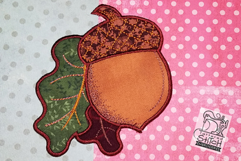 Acorn Coaster Applique - Embroidery Designs