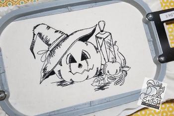 Halloween Pumpkin Scene - Embroidery Designs