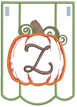 Pumpkin Bunting Alphabet Font - Z - Embroidery Designs