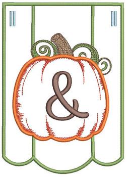 Pumpkin Bunting Alphabet Font - Ampersand - Embroidery
