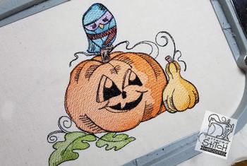 Jailbird Pumpkin - Embroidery Designs