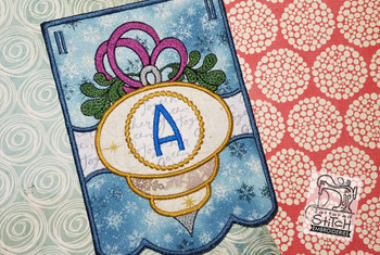 Ornament Bunting Alphabet Letter A - Embroidery Designs