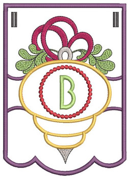 Ornament Bunting Alphabet Letter B - Embroidery Designs