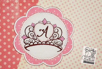 Tiara Coaster ABCs - A - Embroidery Designs