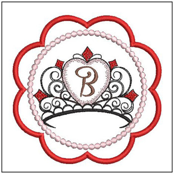Tiara Coaster ABCs - B - Embroidery Designs