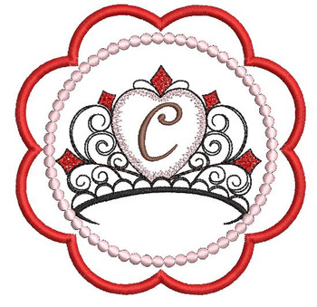 Tiara Coaster ABCs - C - Embroidery Designs