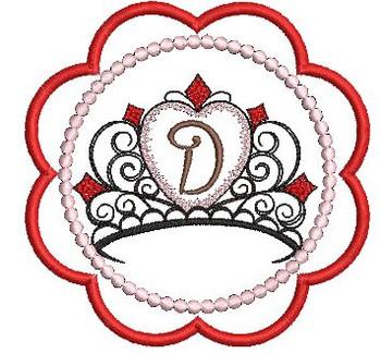 Tiara Coaster ABCs - D - Embroidery Designs