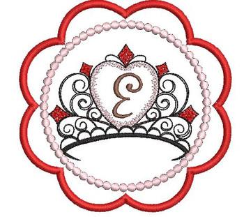 Tiara Coaster ABCs - E - Embroidery Designs