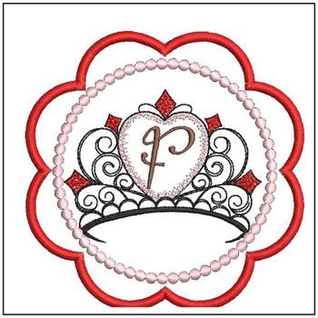 Tiara Coaster ABCs - F - Embroidery Designs