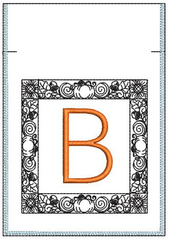 Fall Harvest Font Bag - B - Embroidery Design