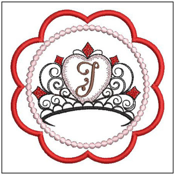 Tiara Coaster ABCs - I - Embroidery Designs