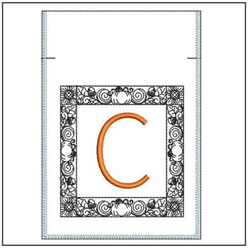 Fall Harvest Font Bag - C - Embroidery Design