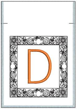Fall Harvest Font Bag - D - Embroidery Design