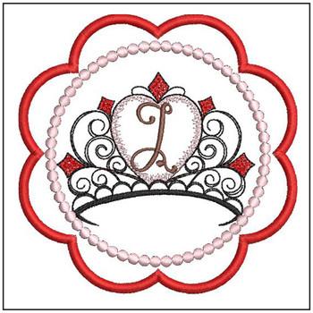 Tiara Coaster ABCs - J - Embroidery Designs