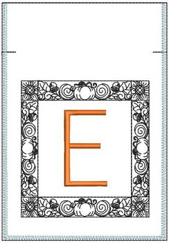 Fall Harvest Font Bag - E - Embroidery Design