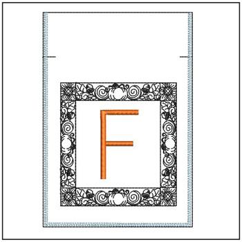 Fall Harvest Font Bag - F - Embroidery Design