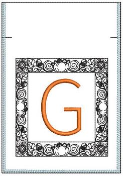 Fall Harvest Font Bag - G - Embroidery Design